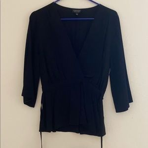 Black topshop peplum top